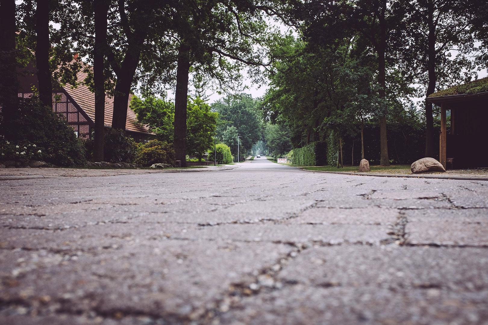 Straße in Hassendorf (Sottrum, Niedersachsen)