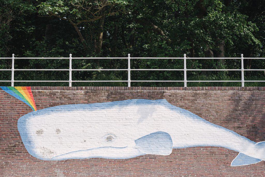 Walgemälde auf Mauer in Dangast