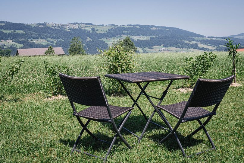 Garten-Sitzgelegenheit Pension Sonnblick in Krumbach