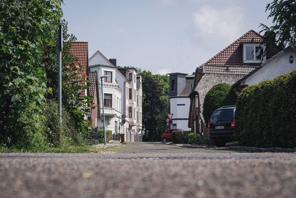 Straße in Blexen