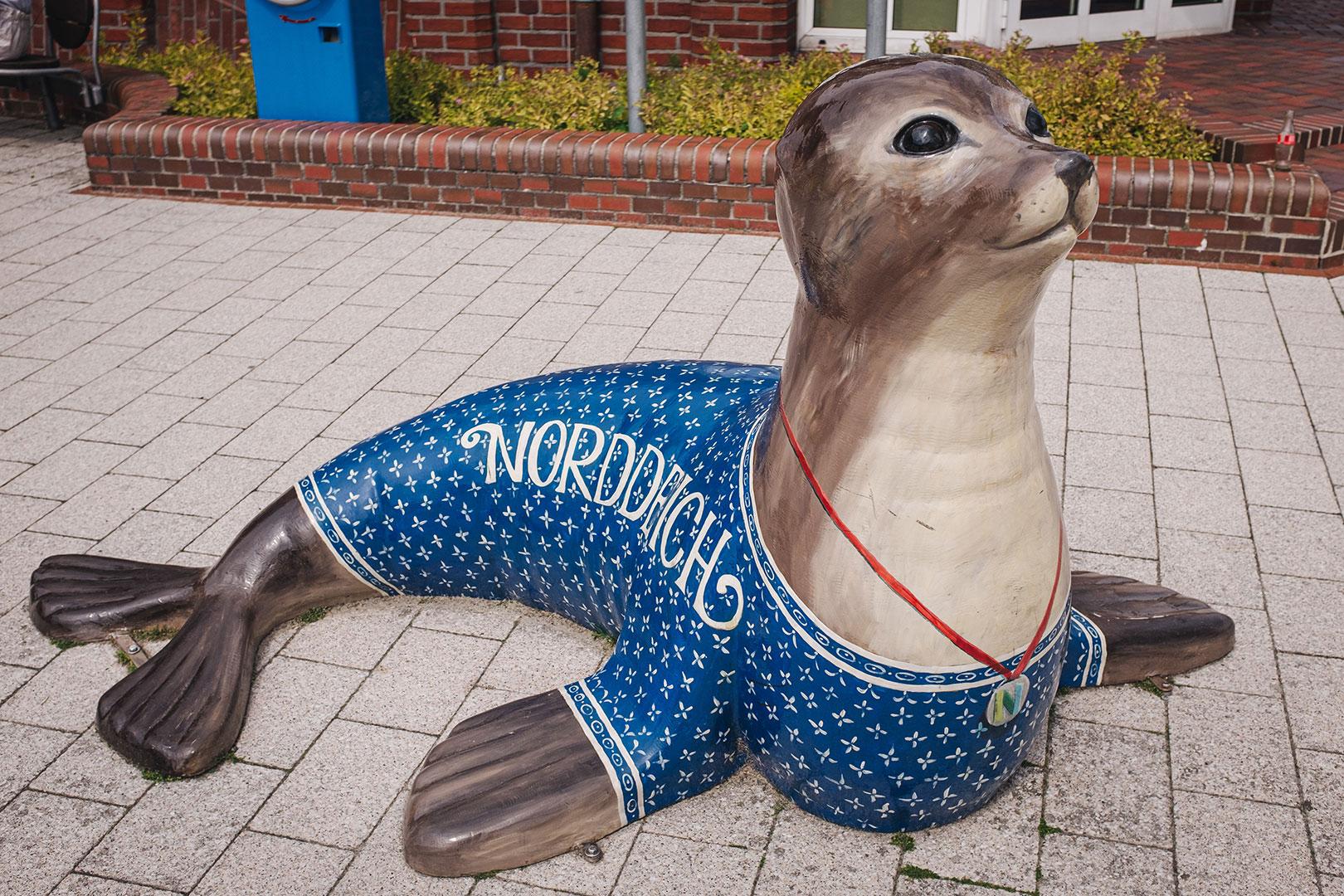 Robbenfigur in Norddeich