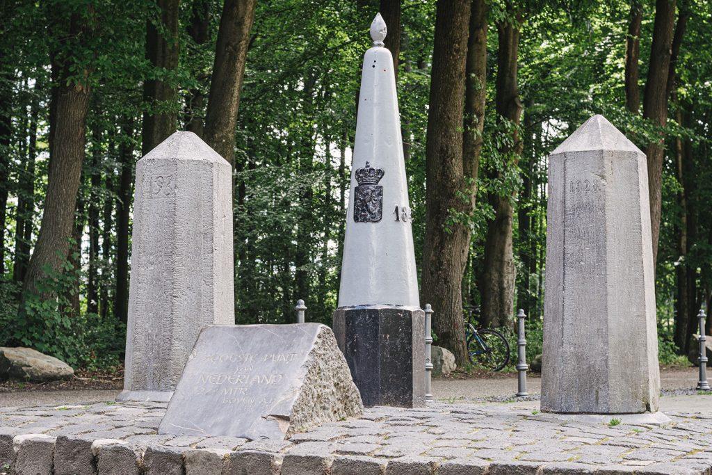 Höchster Punkt der Niederlande am Dreiländereck Deutschland-Niederlande-Belgien
