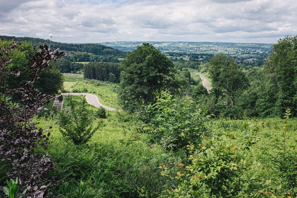 Aussicht am Dreiländereck Deutschland-Niederlande-Belgien