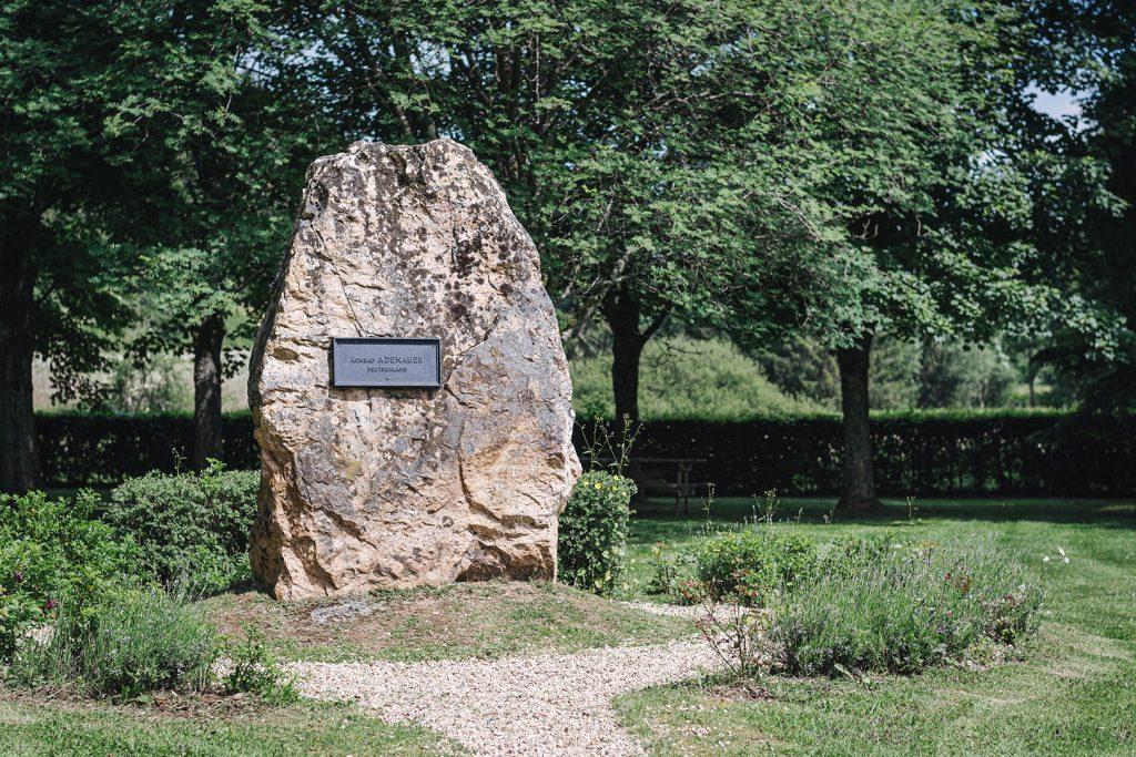 Konrad Adeneauer am Europadenkmal, Dreiländereck Deutschland-Belgien-Luxemburg