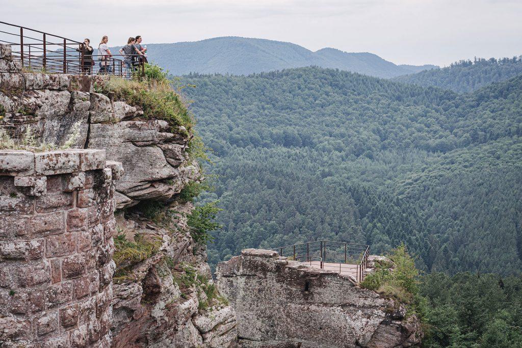 Aussicht der Burg Fleckenstein