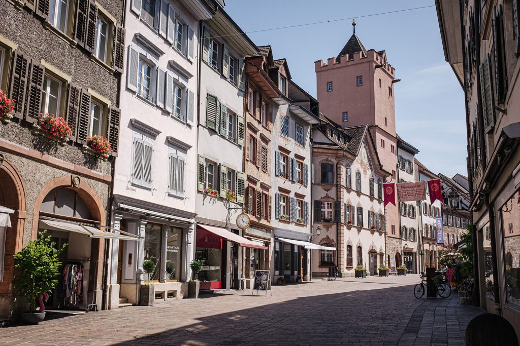 Fußgängerzone im schweizerischen Rheinfelden