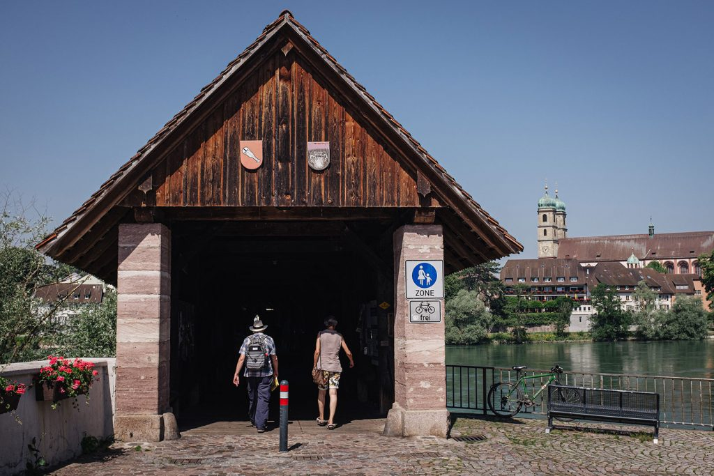 Eingang zur Holzbrücke Bad Säckingen
