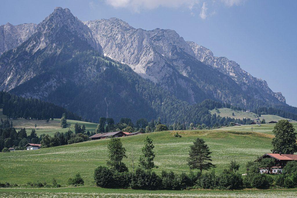 Bergpanorama am Walchsee