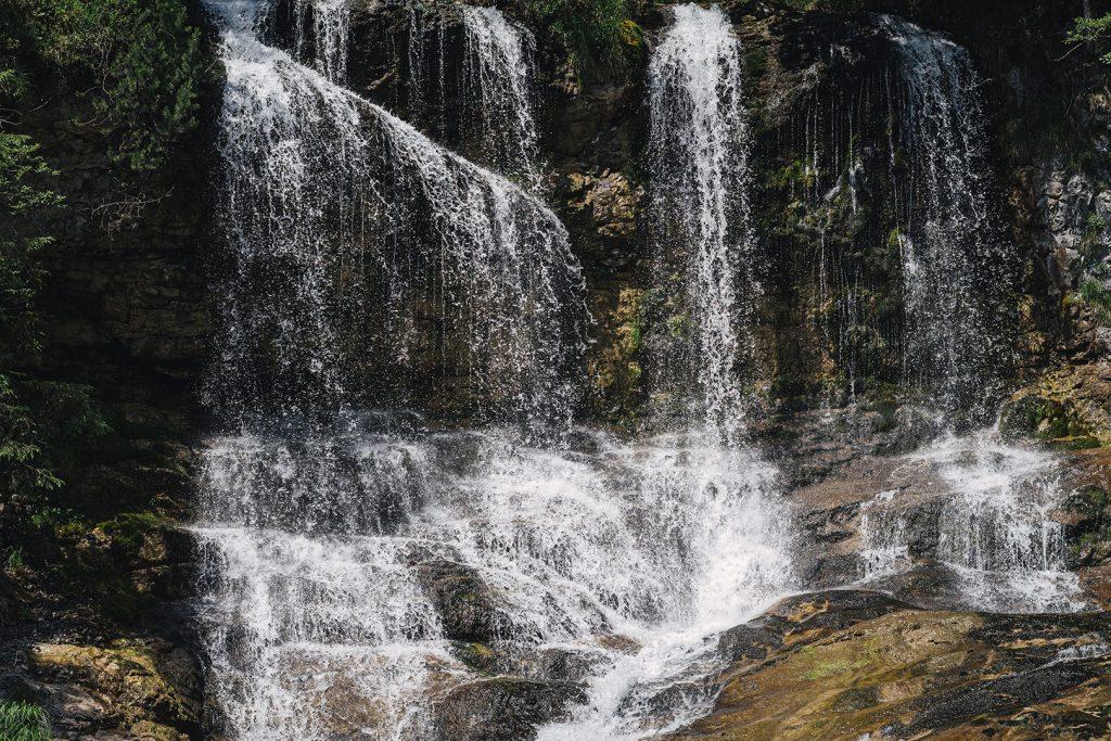 Detail der Wasserfälle Weißbach