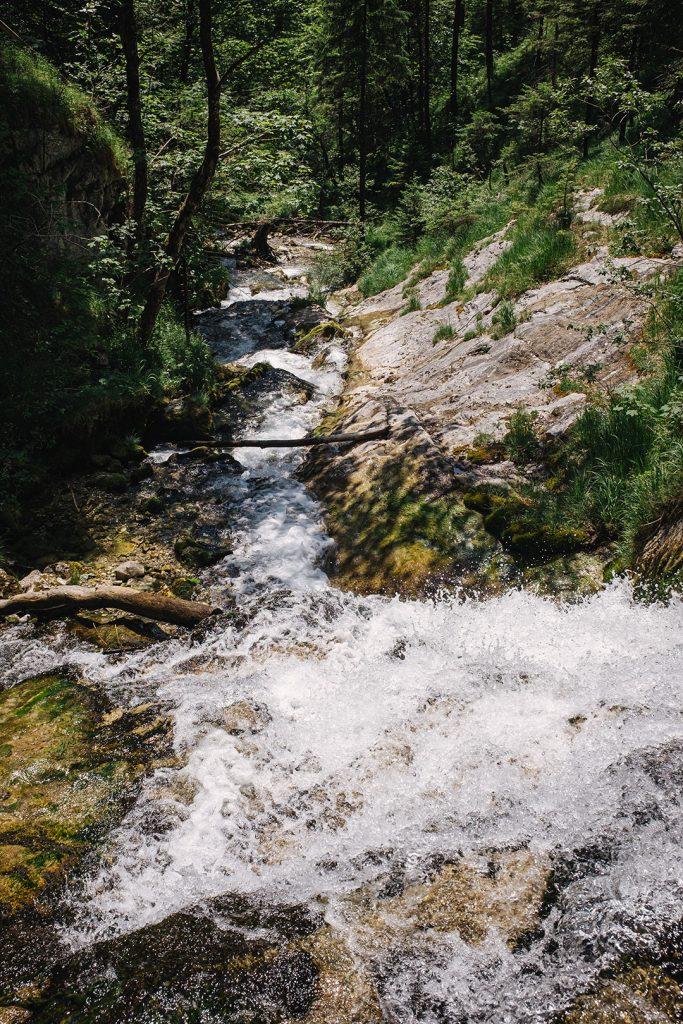 Wasserlauf der Wasserfälle Weißbach