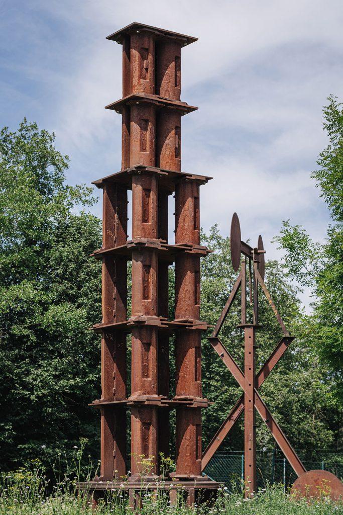 Skulptur aus Stahl in Riedersbach