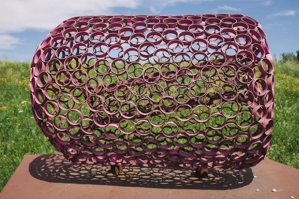 Rosa-Stahlkunst in Riedersbach