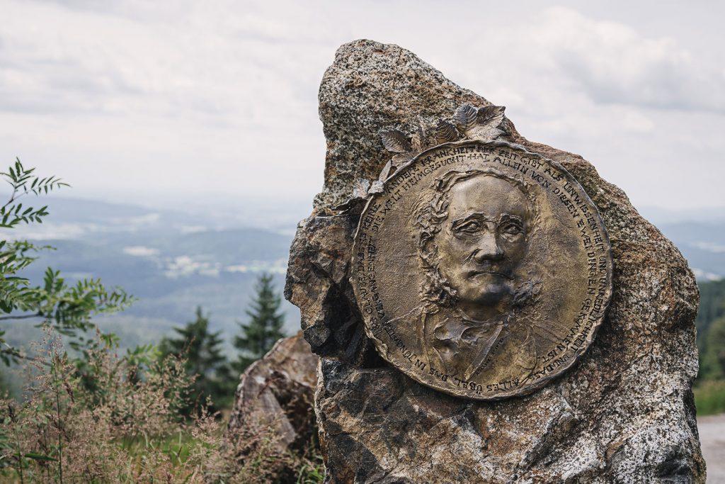 Gedenkstein am Dreisesselberg