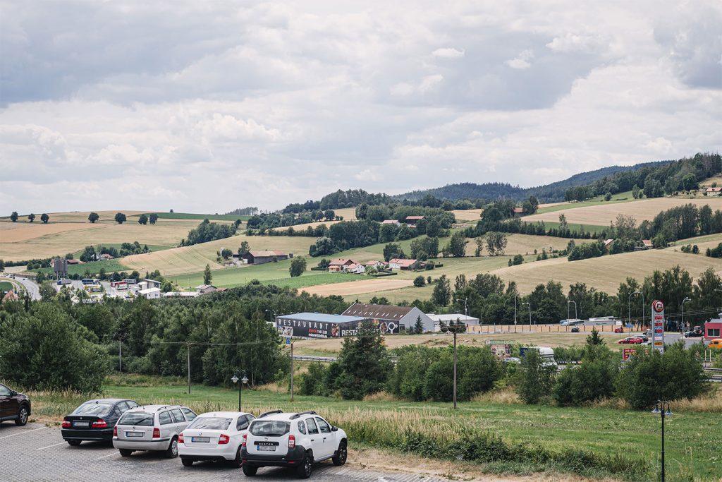 Blick auf einen Teil von Obervollmau (Horní Folmava)