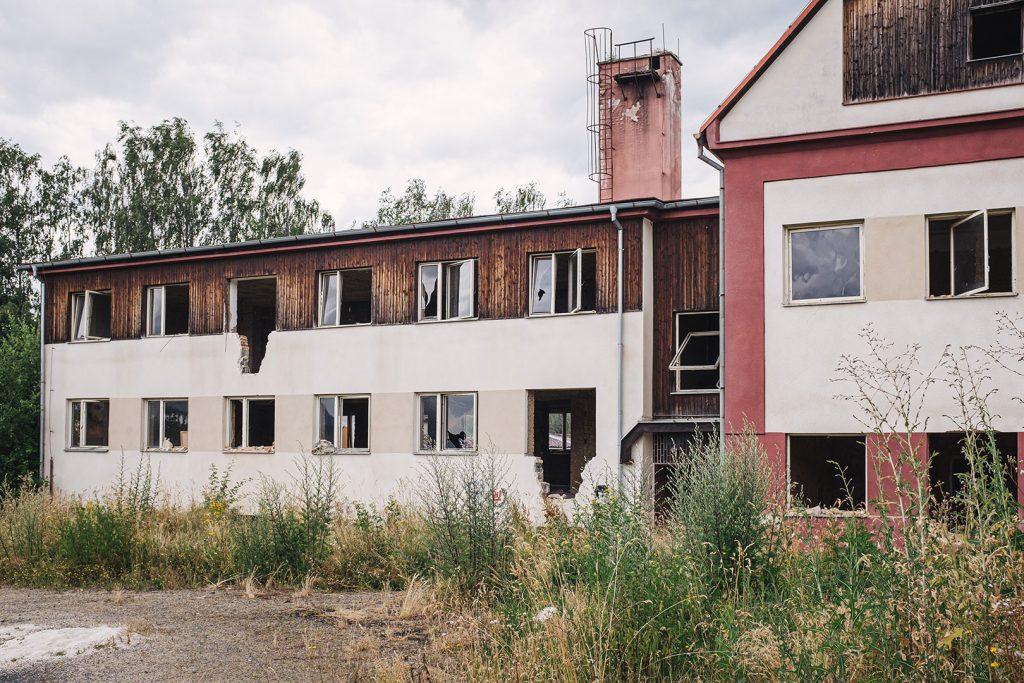 Altes Haus in Obervollmau (Horní Folmava)