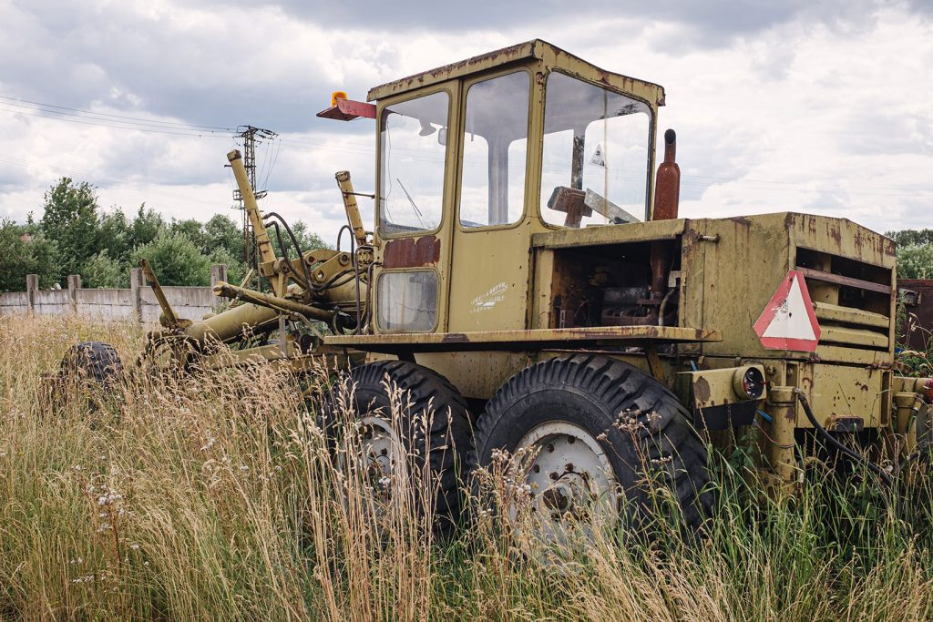 Landwirtschaftsgerät in Obervollmau (Horní Folmava)