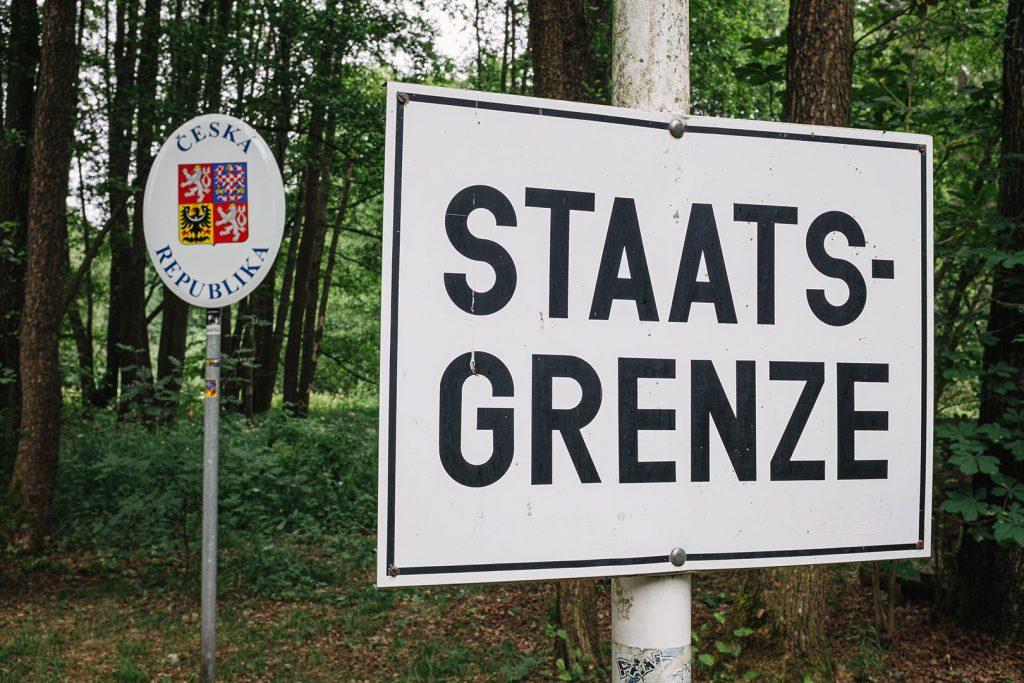 Staatsgrenze am ehemaligen Dreiländereck BRD-DDR-Tschechoslowakei