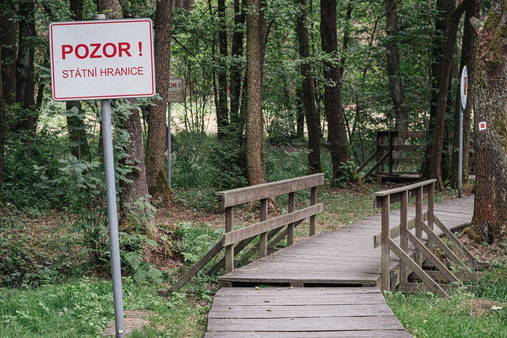Weg an der Grenze am ehemaligen Dreiländereck BRD-DDR-Tschechoslowakei