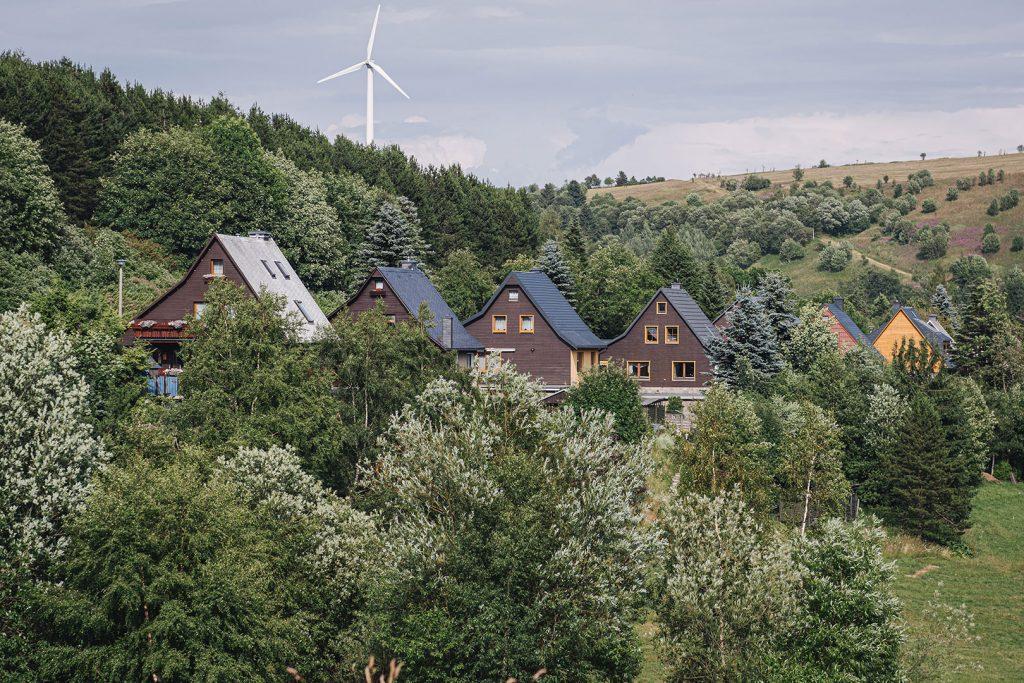 Häuser in Oberwiesenthal