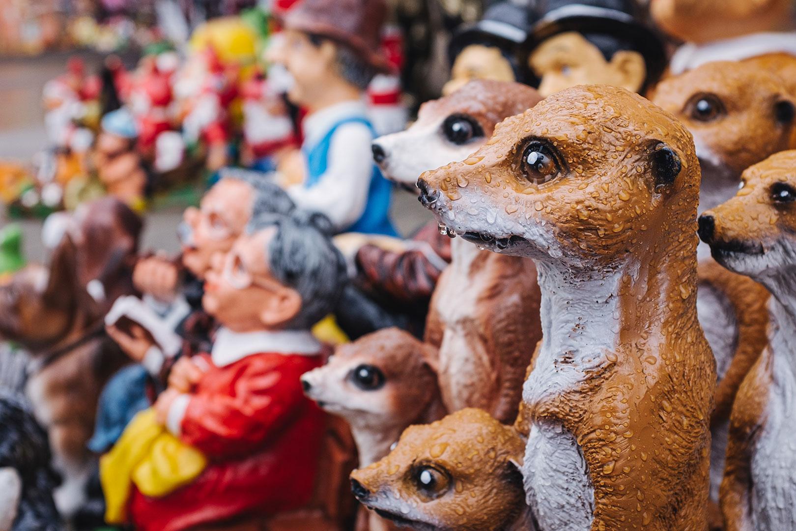 Deko-Figuren in Weipert (Vejprty)