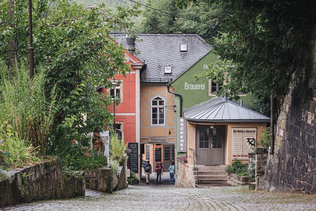 Straße in Schmilka