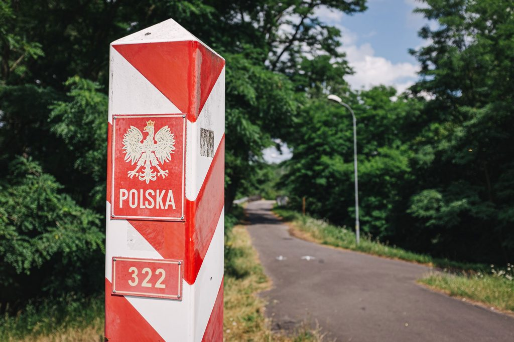 Polnisch-Deutsche Grenze in Siedlec