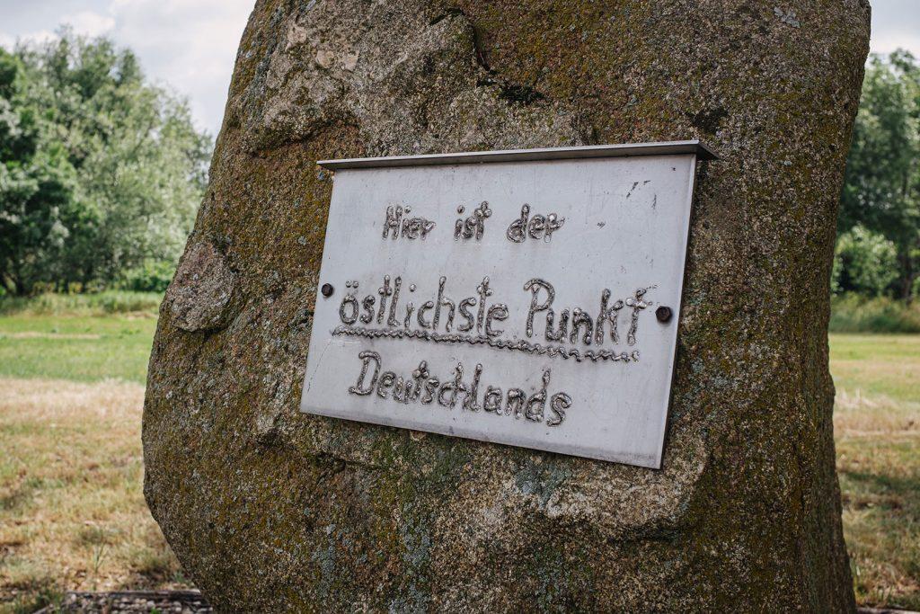 Der östlichste Punkt Deutschlands in Zentendorf