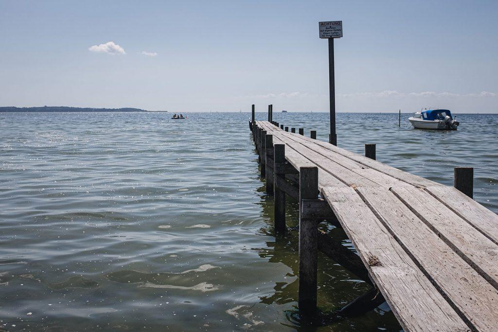 Steg am Ufer in Groß Stresow