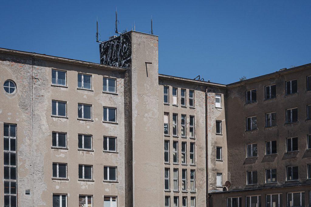 Baustelle an dem Dokumentationszentrum Prora