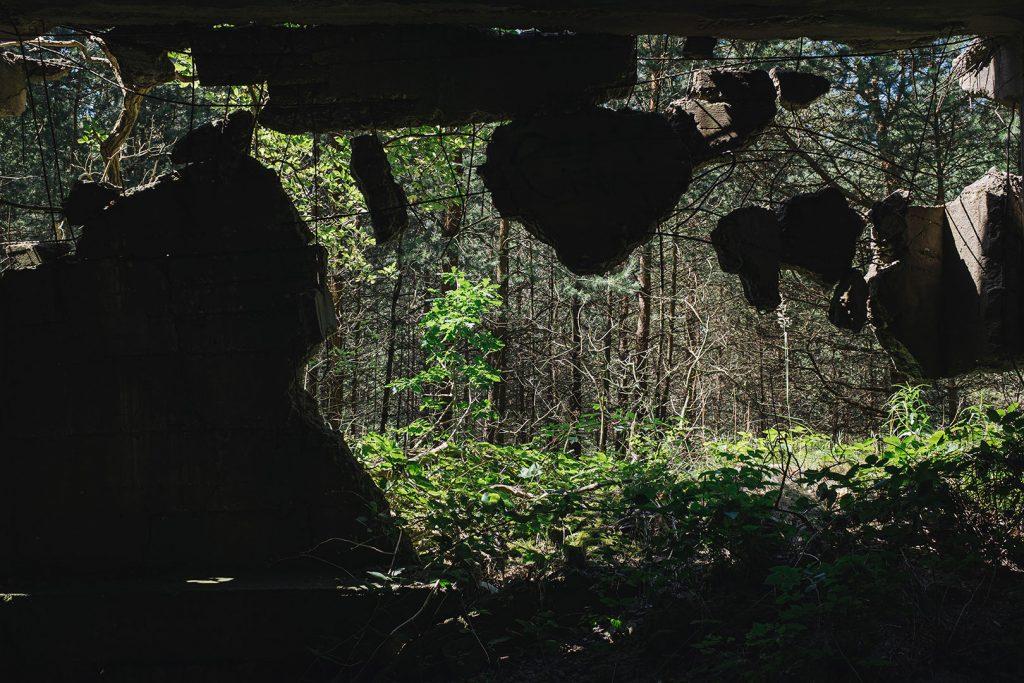 Ruinenstücke in Prora