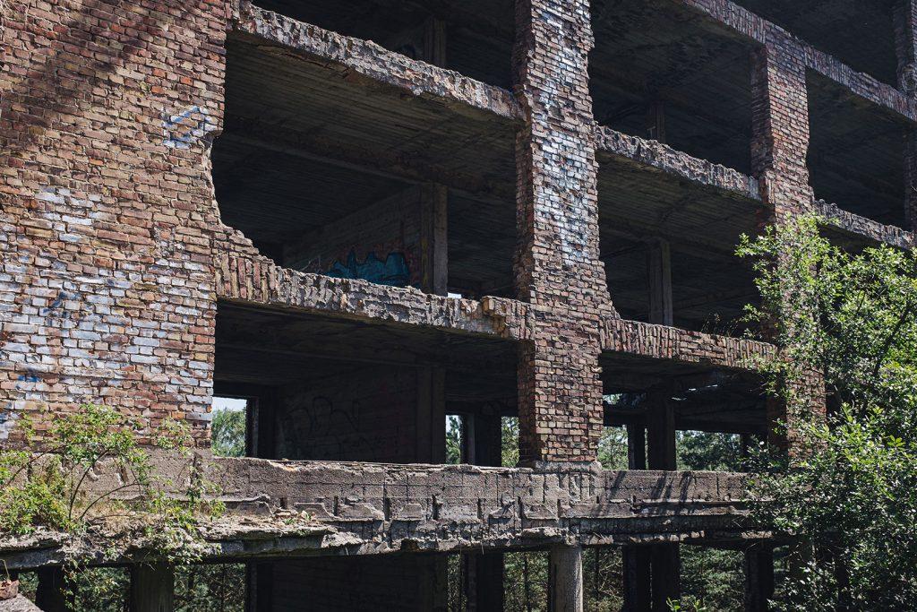 Außenfassade der Ruine Prora