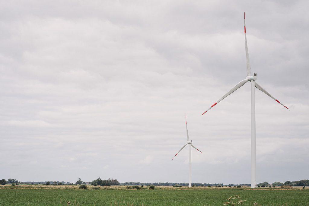 Windmühlen im Rickelsbüller Koog