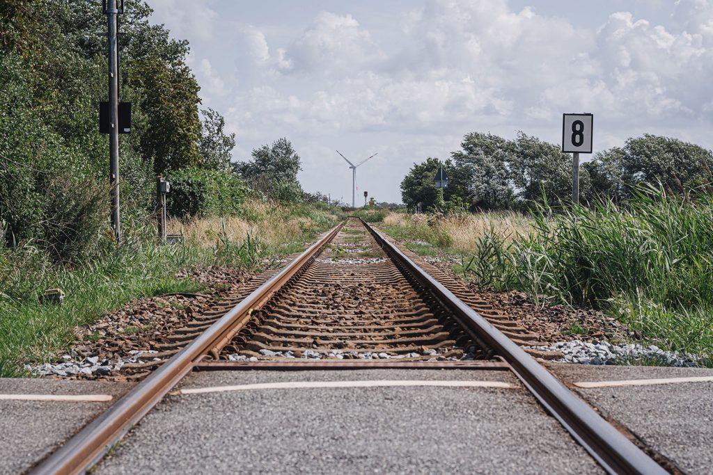 Bahnschienen in Dagebüll