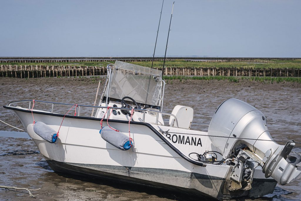 Boot im Watt in Südwesthörn