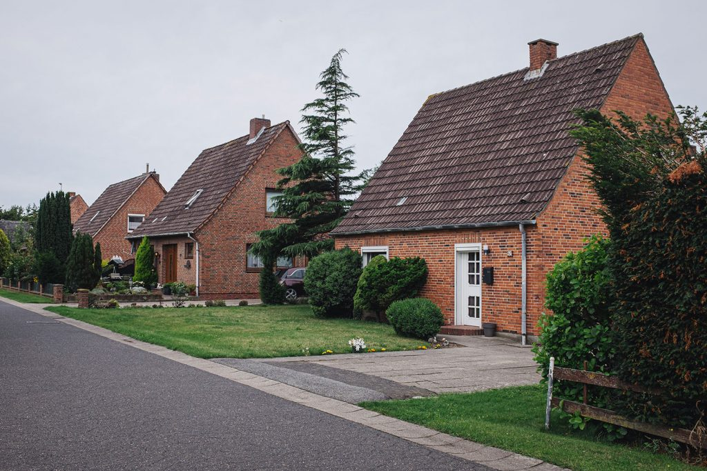Häuseransammlung in Dieksanderkoog