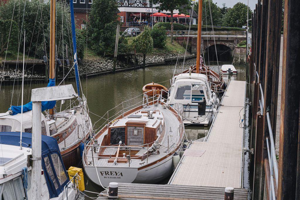 Hafen in Freiburg (Elbe)