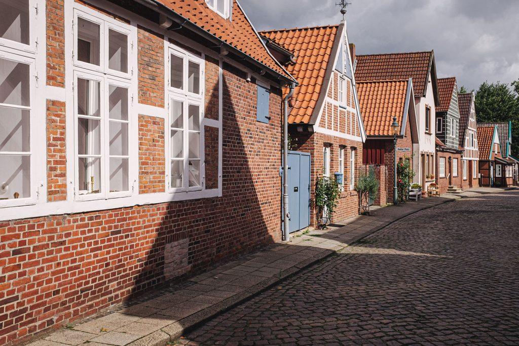 Backsteinhaus-Straße in Otterndorf